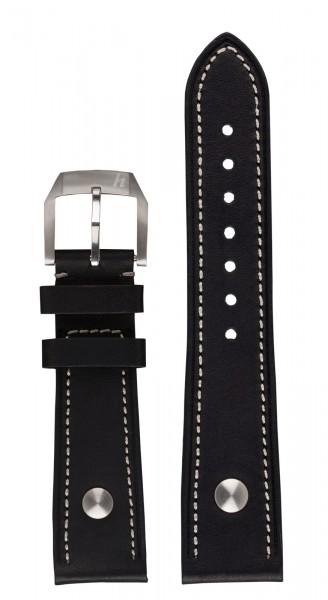 PIONEER Kalbslederarmband schwarz (20 mm)