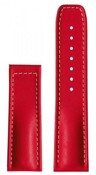 PRIMUS Kalbslederarmband rot (ohne Schließe)