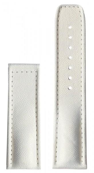 PRIMUS Kalbslederarmband weiß (ohne Schließe)