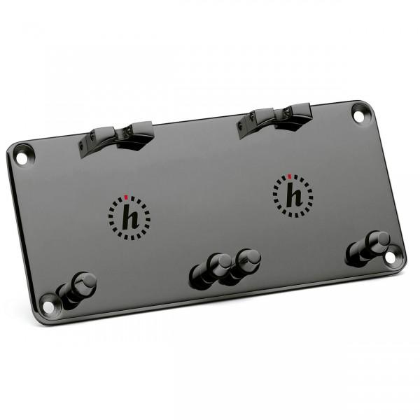 Dashboard Platte für zwei Uhren schwarz