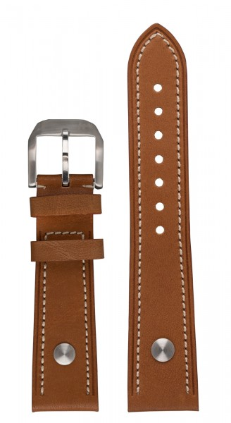 PIONEER TwinDicator, MonoScope, Stealth1882 Calf leather strap light-brown (23 mm)