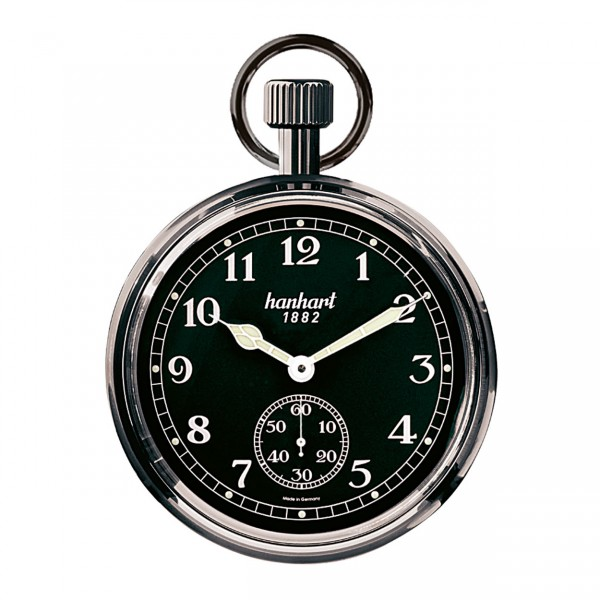 """Pocket Watch """"Board Time"""" black chrome plated"""