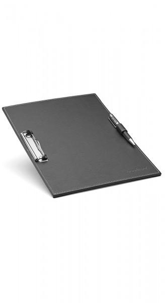 Lederschreibtafel mit hochwertigem Kugelschreiber
