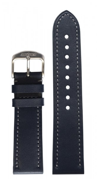 PIONEER One Calf leather strap blue (22 mm)